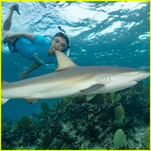 Nina Dobrev Faces Her Fears & Swims With Sharks!