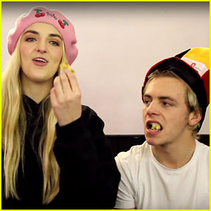 Ross & Rydel Lynch Join Ellington Ratliff for Epic 'Belgium Candy Challenge' (Video)