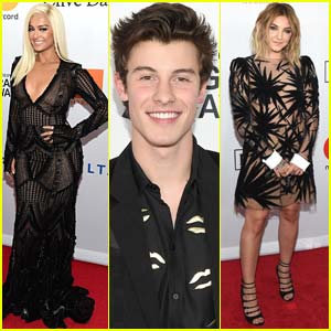 Shawn Mendes, Bebe Rexha, & Julia Michaels Celebrate Grammys 2018!