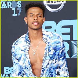 Trevor Jackson Adds Guitar Riffs to 'Grown-ish' Theme Song In Shirtless Video