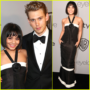 Vanessa Hudgens & Austin Butler Look So Cute at Golden Globes 2018 After Party!