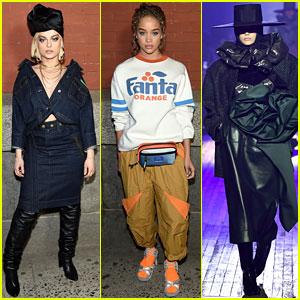 Bebe Rexha & Jasmine Sanders Watch Kaia Gerber Walk in Marc Jacobs Fashion Show