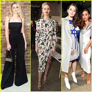 Chloe Lukasiak & Lindsey Morgan Hit Friday Fashion Shows During NYFW