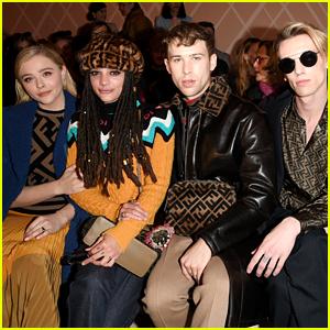 Chloe Moretz & Tommy Dorfman Sit Front Row at Fendi Show