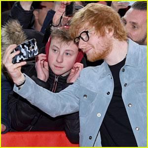 Ed Sheeran Snaps a Fan Selfie at 'Songwriter' Documentary Premiere