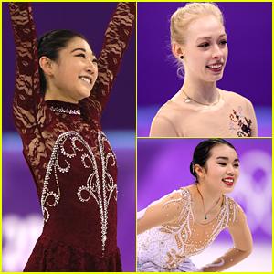 Mirai Nagasu Inspires Teammates Karen Chen & Bradie Tennell On The Ice at Olympics