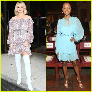 Olivia Holt & Ashleigh Murray Stun at More Fashion Shows During NYFW