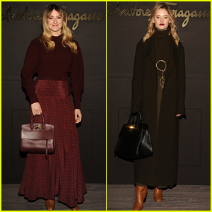 Shailene Woodley & Virginia Gardner Step Out for Ferragamo's Milan Show