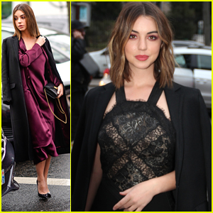 Adelaide Kane Shows Off Chic Style During Paris Fashion Week