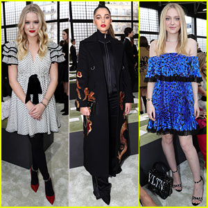 Ava Phillippe, Naomi Scott & Dakota Fanning Attend Valentino Paris Fashion Week Show