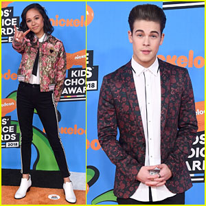 Breanna Yde & Ricardo Hurtado 'Rock' Out at Kids' Choice Awards 2018!