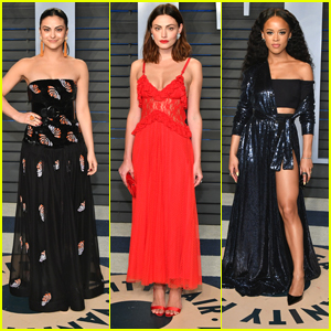 Camila Mendes & Phoebe Tonkin Are Super Stunning at Vanity Fair's Oscar Party 2018