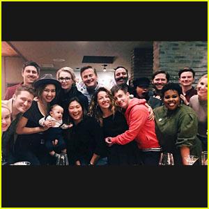 The Stars of 'Glee' Had a Big Cast Reunion Dinner!