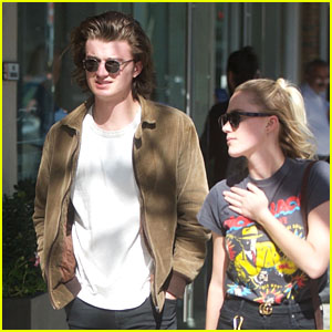Joe Keery & Girlfriend Maika Monroe Go Shopping Together in Beverly Hills