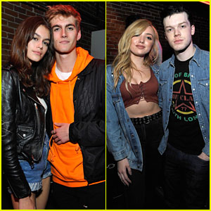 Kaia & Presley Gerber Support Friend at Spotify's Louder Together Launch Party