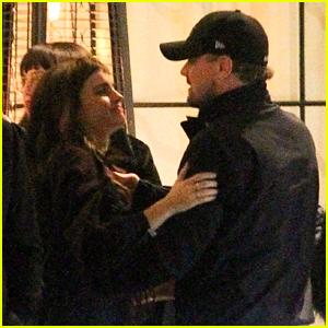 Emma Watson Gives Leonardo DiCaprio a Hug at Pre-Oscars Party