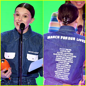 Millie Bobby Brown Wears Names of Parkland Victims on Her KCAs Outfit