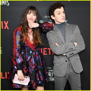 Malina Weissman & Louis Hynes Strike a Pose at 'Series of Unfortunate Events' Season 2 Premiere
