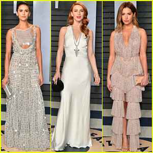 Nina Dobrev Looks Gorgeous at Oscars After Party with Julianne Hough & Ashley Tisdale!