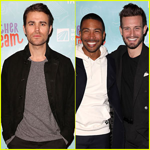 Paul Wesley, Nico Tortorella, & Charles Michael Davis Team Up for a Good Cause