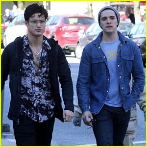 Riverdale's Casey Cott & Charles Melton Hang Out Ahead of Last Season 2 Table Read