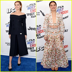 Zoey Deutch & Haley Lu Richardson Join Forces at Spirit Awards 2018