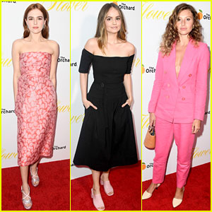 Zoey Deutch Gets Support from Friends at 'Flower' Premiere!