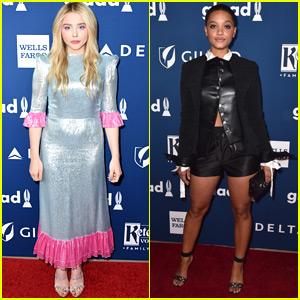 Chloe Moretz & Kiersey Clemons Go Glam for GLAAD Media Awards!