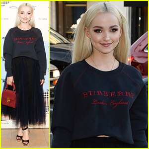 Dove Cameron Steps Out in Style For Burberry's Celebration in Beverly Hills