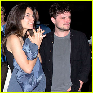 Josh Hutcherson & Claudia Traisac Couple Up for a Comedy Show