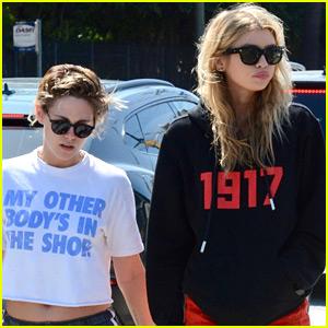 Kristen Stewart Runs Errands with Girlfriend Stella Maxwell