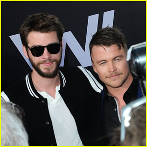 Brothers Liam & Luke Hemsworth Team Up at the 'Westworld' Season 2 Premiere in LA!