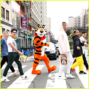 PRETTYMUCH Recreate The Beatles' 'Abbey Road' Album Cover with Tony the Tiger!