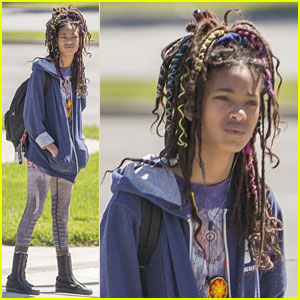 Willow Smith Adds Pops of Color To Her Hair