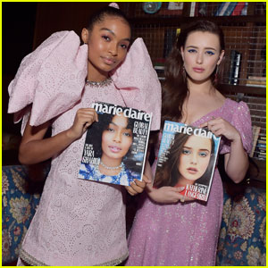Katherine Langford & Yara Shahidi Get Glam For 'Marie Claire' Fresh Faces Party!