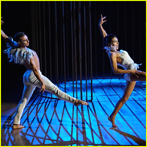 Adam Rippon & Jenna Johnson Perform Contemporary In a Cage on 'DWTS Athletes' Week 3 (Video)