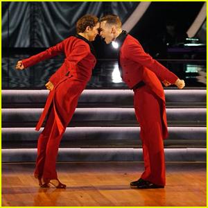 Adam Rippon & Jenna Johnson Perform Fun Jazz Routine on 'DWTS Athletes' Finale (Video)