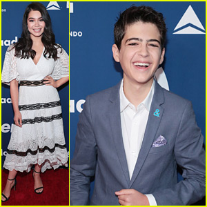 Joshua Rush Joins Auli'i Cravalho at GLAAD's Rising Stars Luncheon in NYC