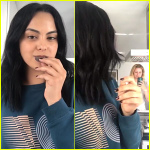 Lili Reinhart Caught Camila Mendes Opening Their Last Box Of Girl Scout Cookies!