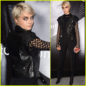 Cara Delevingne Looks So Cool at Her New Tag Heuer Watch Ad Unveiling!