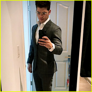 Gregg Sulkin Suits Up Sharp For His US Citizenship Day