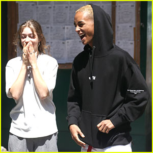 Jaden Smith & Odessa Adlon Share Lots of Laughs in NYC!