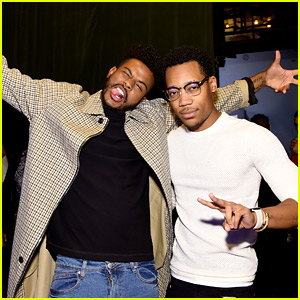 Trevor Jackson & Tyler James Williams Have 'Let It Shine' Reunion at EW's Upfronts Party