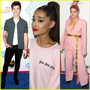 Ariana Grande, Shawn Mendes, & Meghan Trainor Hang Out at Wango Tango 2018!