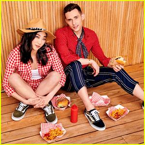Adam Rippon & Mirai Nagasu Chow Down on Cheeseburgers for New DSW Campaign!