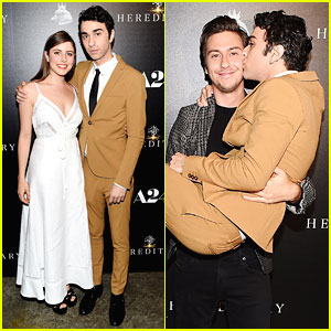 Alex Wolff Gets Family Support at 'Hereditary' Screening