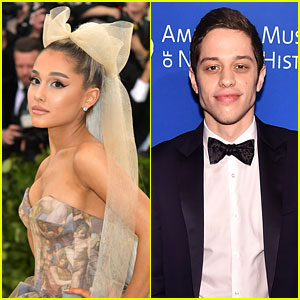Ariana Grande & Pete Davidson Adorably Share a Snack - See the Pic!