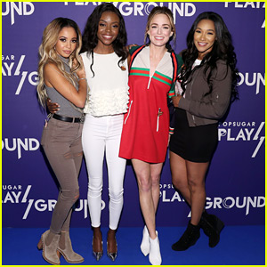 Candice Patton, Caity Lotz, Vanessa Morgan & Ashleigh Murray Hit PopSugar's Play/Ground Event