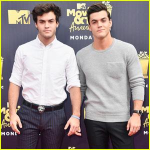 Ethan & Grayson Dolan Look Sharp at MTV Movie & TV Awards 2018!