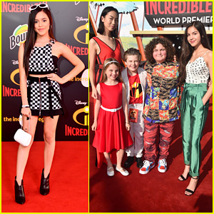 Jenna Ortega Goes Retro at 'Incredibles 2' Premiere with 'Bizaardvark' Cast